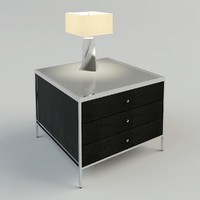 bedside table lamp 3d max