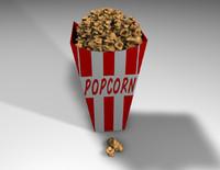 free popcorn 3d model
