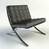 3d model of barcelona lounge chair