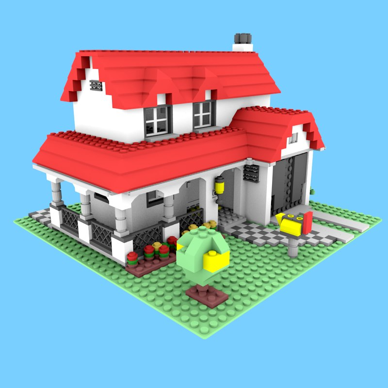 3ds lego house for Lego house original