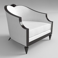 armchair christopher guy 3d model