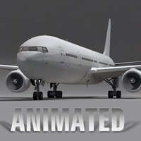 3d model boeing 777-300 generic white