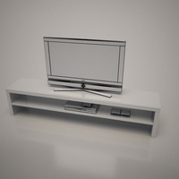 3d cattalan italia aspen tv stand model