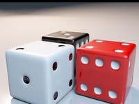 dice red white 3ds free