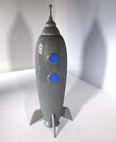3d model of rocket toy