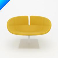 fjord swivel armchair patricia 3d model
