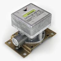 3d fuel flow meter model