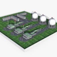 3d industrial plant