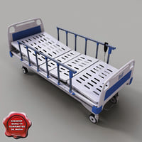 intensive care hospital bed 3d model