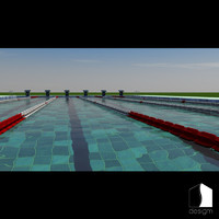3d real swimming pool 25m model