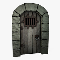 Low Poly Castle Door