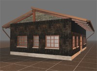 3d model village house base