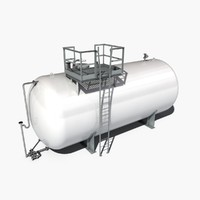 atmospheric tank storage 3d fbx