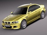 3d model bmw m3 e46 sport