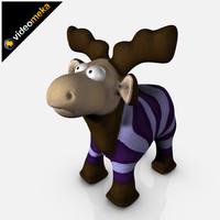 3dsmax funny deer rudolph