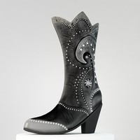 3d model female leather boots