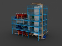 3d model hydrocracker unit refineries