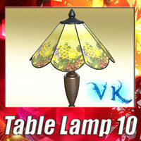 modern table lamp 10 3ds
