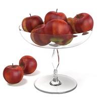 red apple glass 3d model