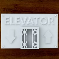 3d Printable Elevator sign STL OBJ