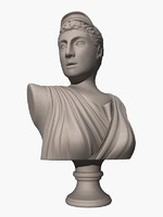 3d max ancient greek artemis bust