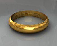 3d model gold wedding ring