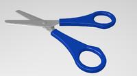 3d scissors desk model