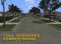 Suburban Street Scene