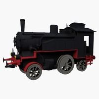3d max locomotive toy old