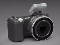 sony nex-5n camera lens 3d model
