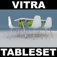 vitra chair table 3d model