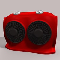 3d electric heater model