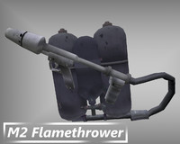 m2 flamethrower dxf