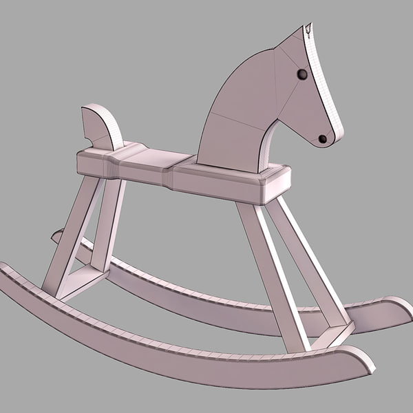 rosendahl rocking horse 3d 3ds - Rosendahl Rocking Horse... by vizka