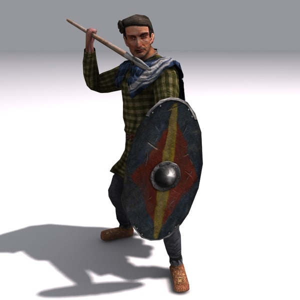 3d clothing spears - Low poly germanic Spearman... by alint