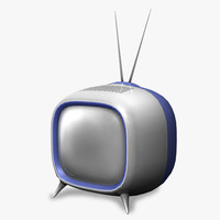 3d model television retro design