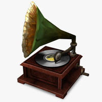 3d model gramophone real time