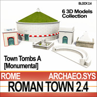 Roman Town Monumental Tombs A 2.4 Low Poly