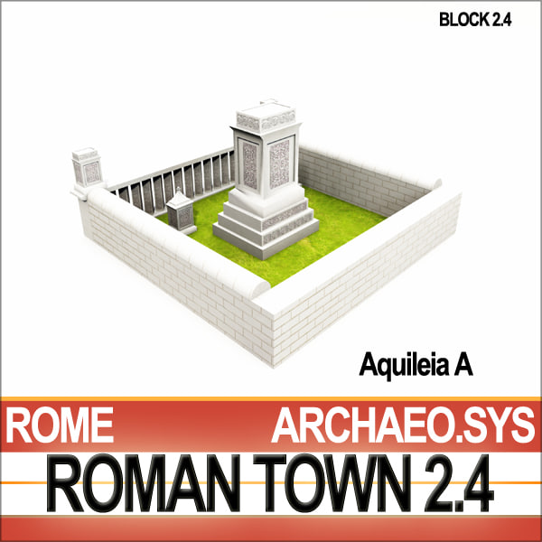 c4d ancient roman town monumental - Roman Town Monumental Tombs A 2.4 Low Poly... by SmartCGArt