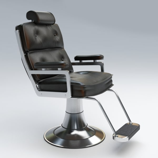 haircut chair 3d model 2