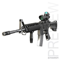 maya m4a1 sopmod rifle