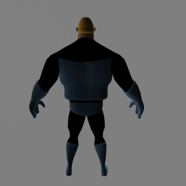 3d model of mr incredible - Mr Incredible... by d16y7sohc