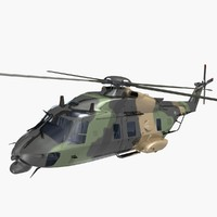 nhindustries helicopter australian 3d model