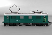 3d swiss electro locomotive re44