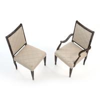 3dsmax dining chair swaim -