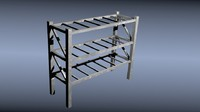 metal storage rack 3d 3ds