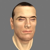 male head facial expressions 3d model