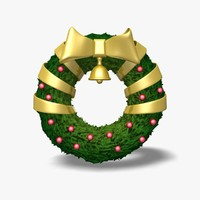 wreath icon statue 3d model
