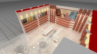 3d exhibition design model