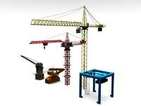 3d cranes model